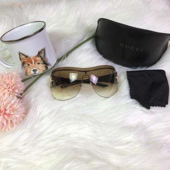cf0d7c5e18d Gucci Accessories - Authentic Gucci Oversized Shield-Style Sunglasses